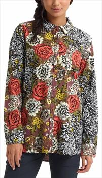 Burton Women's Grace Performance Flannel Shirt, S Cheetah Floral