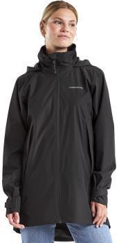 Didriksons Noor 3 Women's Waterproof Parka Jacket, UK 12 Black