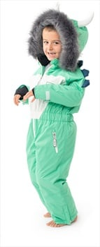 Dinoski Spike Ski Suit Kids' Insulated Snow Onesie, 5 - 6 Years Green