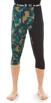 Planks Fall-Line Base Layer 3/4 Leg Thermal Bottoms, L Autumn Camo