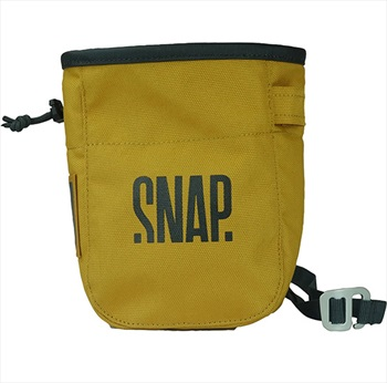 Snap Pocket Rock Climbing Chalk Bag, 17 X 13 X 7 Cm, Curry