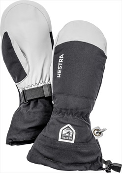 Hestra Army Leather Heli Ski Ski Snowboard Mitt, XL Black