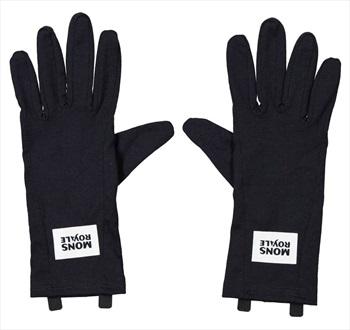 Mons Royale Cold Days Merino Wool Glove Liner, M Black