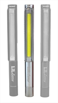 Nebo Lil Larry Work Light High Power LED Torch, 250lm Silver