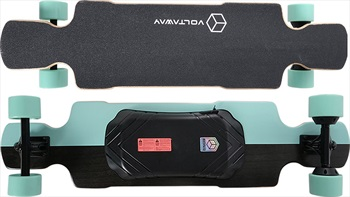 "Voltaway Mack Dual Motor Electric Skateboard, 39"" Aqua"