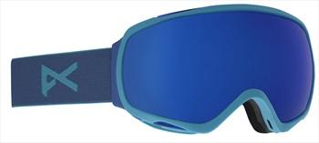 Anon Tempest Sonar Infrared Blue Women's Ski/Snowboard Goggles, Blue