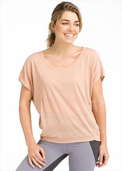 Prana Oriana Top Women's T-Shirt, S Champagne