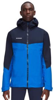 Mammut Adult Unisex Convey Tour Hardshell Hooded Waterproof Jacket, S Ice/Marine