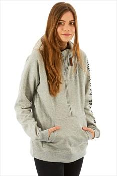 Planks Sister Hood Half Zip Hoodie, S Sports Grey
