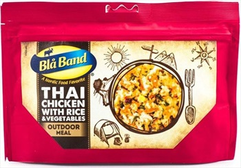 Bla Band Thai Chicken + Rice & Vegetables Camping & Hiking Food