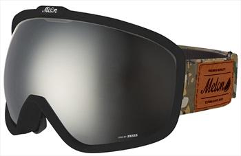 Melon Jackson Silver Chrome Sonar Snowboard/Ski Goggle, M/L Black