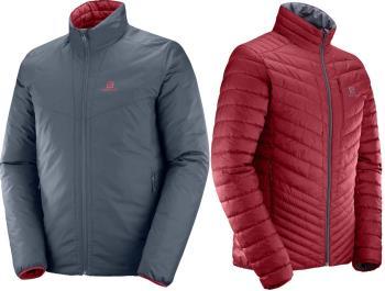 Salomon Drifter Loft Insulated Jacket, S Ebony/Biking Red