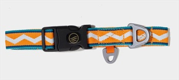 United By Blue Woven Dog Collar Webbing Pet Collar, Wave Stripe