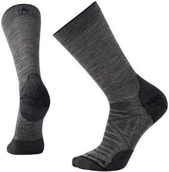 Smartwool PhD Outdoor Light Crew Hiking Socks, L Mid Grey