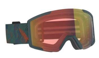 Scott Shield Red Chrome Snowboard / Ski Goggles, L Sombre Green 2021