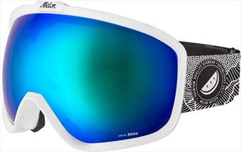 Melon Jackson Blue Chrome Sonar Snowboard/Ski Goggle, M/L White