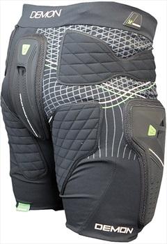 Demon Shield Ski/Snowboard Impact Shorts, XXL Black