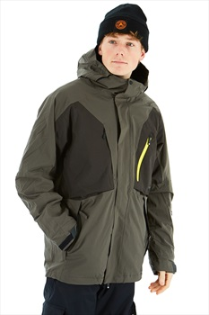 Bonfire Firma 3-In-1 Stretch Men's Ski/Snowboard Jacket, S Charcoal