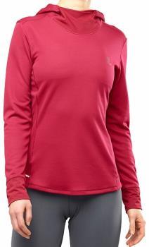 Salomon Agile Long Sleeve Women's Midlayer Hoodie, M Rio Red