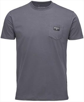 Black Diamond Adult Unisex Pocket Label Tee Organic Cotton T-Shirt, M Carbon