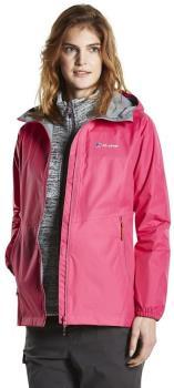 Berghaus Deluge Light Shell Women's Waterproof Jacket, UK 10 Pink