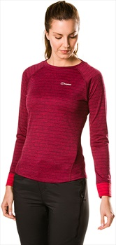Berghaus Thermal Tech Crew Women's Long Sleeve T-Shirt, XL Beet Red