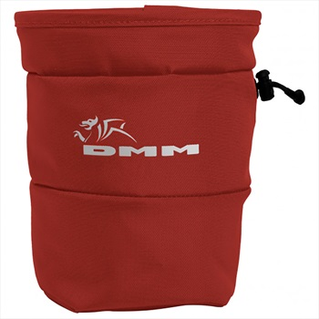 DMM Tube Rock Climbing Chalk Bag, OS Red