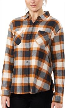Dakine Ellis Lightweight Women's Cotton Flannel Shirt, S Ginger