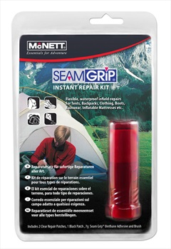 McNett SeamGrip Instant Waterproof Gear Repair Kit, 7g Red