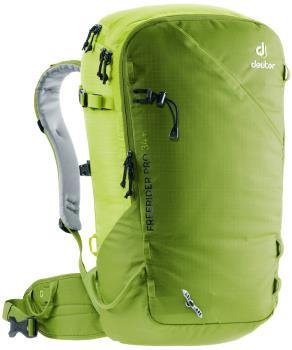 Deuter Freerider Pro 34+ Ski/Snowboard Backpack, 34L Moss-Citrus