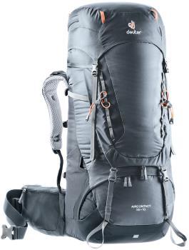 Deuter Aircontact 55 + 10 Trekking Backpack/Rucksack, Black/Graphite