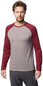 Craghoppers NosiLife Bayame II Long Sleeve T-shirt, XL Red & Grey