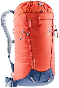 Deuter Adult Unisex Guide Lite 24 Technical Alpine Backpack, 24l Papaya/Navy