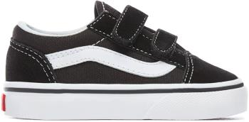 Vans Old Skool Velcro Toddler Skate Shoes, UK Toddler 5 Black