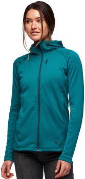 Black Diamond Factor Fleece Hoody Women's Full-Zip Jacket UK 14 Pine