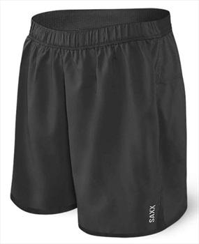 Saxx Mens Pilot 2N1 Boxer/Running Shorts, L Black