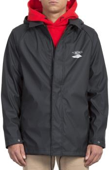 Volcom Adult Unisex V.I Waterproof Rain Jacket, S Black