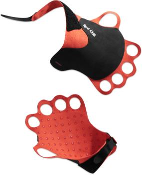 Red Chili Jamrock Crack Climbing Gloves, Small Black / Red