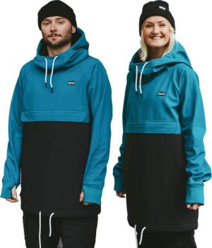 bro! Shredshell Ski/Snowboard Hoodie, M Ocean / Black