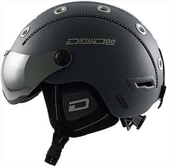 Dirty Dog Commanche Snowboard/Ski Visor Helmet, XL Matte Dark-Grey