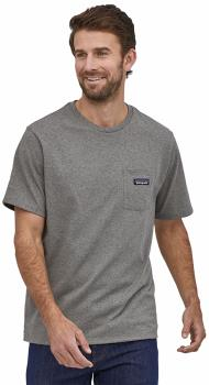 Patagonia P-6 Label Pocket Responsibili-Tee Men's T-Shirt, M Heather