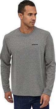 Patagonia Fitz Roy Trout Responsibili-Tee Long Sleeve T-Shirt, S Grey