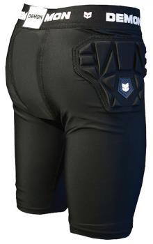 Demon Skinn Compression Ski/Snowboard Impact Shorts, S Black