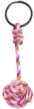 Munkees Paracord Monkey Fist Lanyard Key Ring, One Size Pink