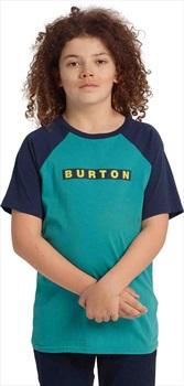 Burton Kid's Vault Short Sleeve T Shirt, Green/Blue/Slate