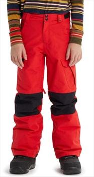 Burton Boys Exile Cargo Snowboard Ski Pants, XL Flame Scarlet