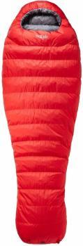 Rab Alpine Pro 600 Lightweight Down Sleeping Bag, Regular Red LH Zip