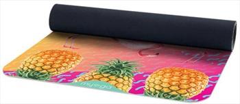 Myga Vegan Suede Rubber Yoga/Pilates Mat, 3mm Tropical