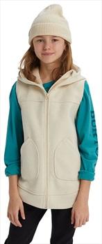 Burton Minxy Girl's Full-Zip Fleece Vest, M Creme Brulee