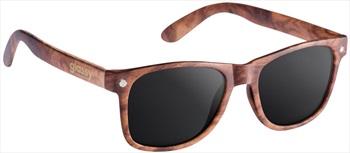 Glassy Sunhaters Leonard Sunglasses Wood Grey Lens